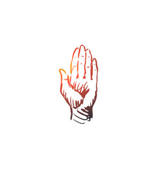 touch hand finger gesture press concept hand vector image