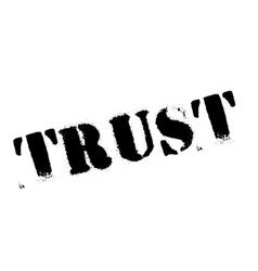 Trust stamp rubber grunge vector image