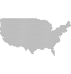 usa map doted vector image