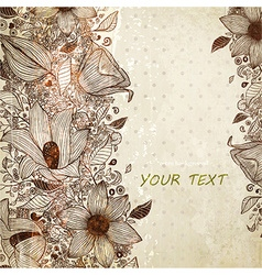 valentines background with floral pattern vector image