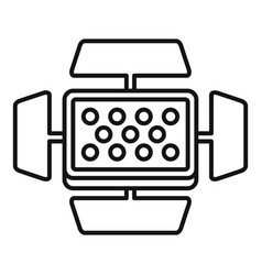 video camera flash icon outline style vector image
