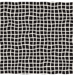 Wavy Hand Drawn Lines Square Grid Seamless vector