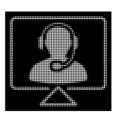 white halftone online support icon vector image