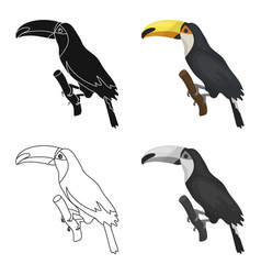 brazilian toucan icon in cartoon style isolated on vector image