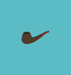 flat icon smoking pipe element vector image