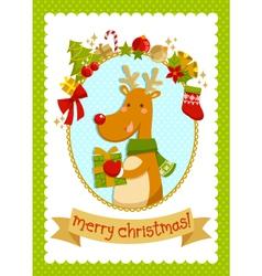 christmas deer stock small vector image vector image