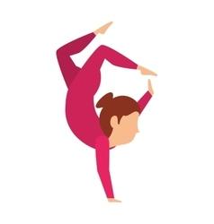 Juggler woman entertainment icon vector image