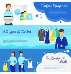 Laundry Banners Set vector image vector image