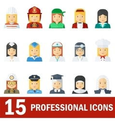 woman professional icons white vector image