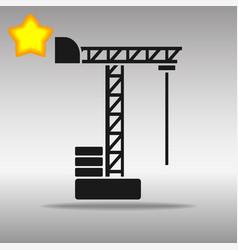 black crane icon button logo symbol concept high vector image vector image
