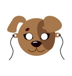dog animal carnival mask favorite pet festival vector image vector image