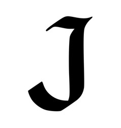 letter j painted brush vector image