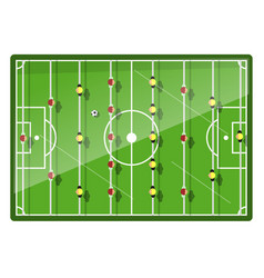 table football game top view vector image vector image