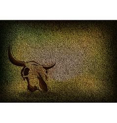 texture grain dark with skull vector image vector image