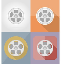 cinema flat icons 05 vector image vector image