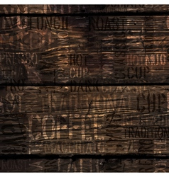 coffee experience words on wooden texture vector image vector image