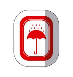 color rain with umbrella emblem icon vector image vector image