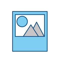 picture landscape symbol vector image