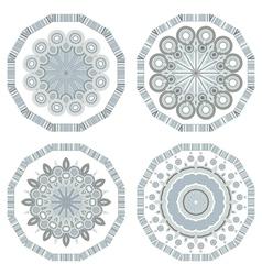 retro round mosaic vector image