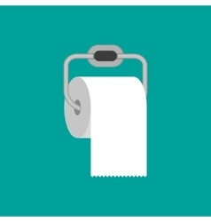 Toilet paper roll with metal holder vector