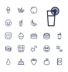 22 sweet icons vector
