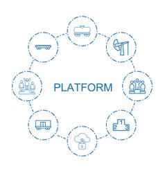 8 platform icons vector image