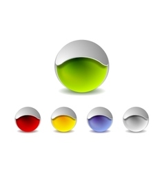 Abstract 3d balls logo design vector image