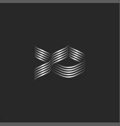 abstract aquarium fish logo minimal design from vector image