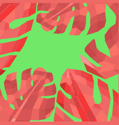 abstract with monstera leaves vector image