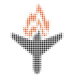 Air crash halftone icon vector