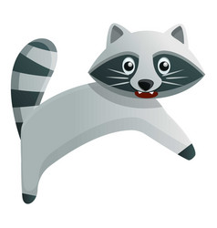 Angry raccoon icon cartoon style vector