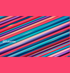 background with volumetric diagonal stripes vector image