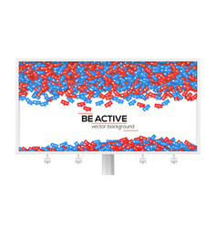 Billboard with abstract background filled with vector
