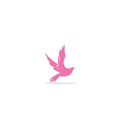 bird fly animal logo vector image