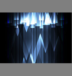 Blue crystal line dark abstract background vector
