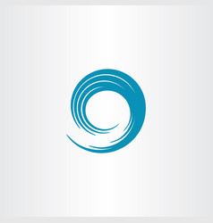 Blue swirl wave vector