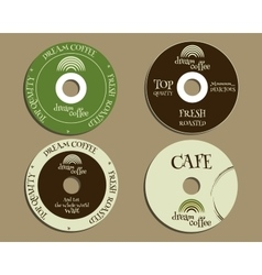 Brand identity elements - CD DVD templates sign vector image