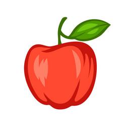 cartoon ripe apple vector image