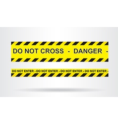 Caution danger and police tape attention vector