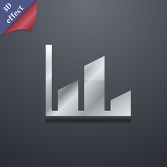 Chart icon symbol 3D style Trendy modern design vector image
