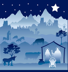 christmas nativity version 1 vector image