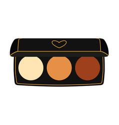 Colorful cartoon eyeshadow palette vector