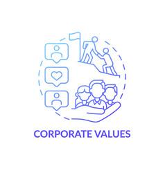 Company values concept icon vector
