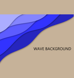 cut paper wave background vector image