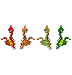 Dancing dragons vector