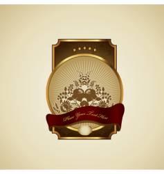 decorative shield vector image
