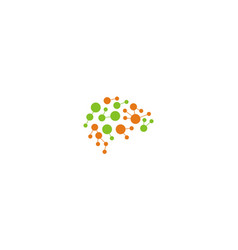 Dot network connect digital logo vector