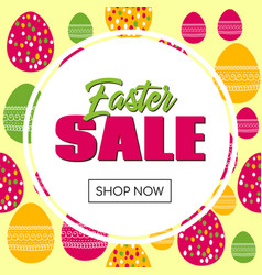 easter sale promo template vector image