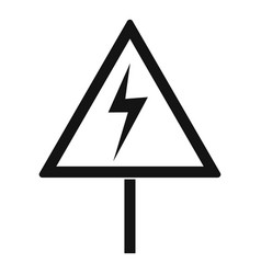 electric shock sign icon simple style vector image