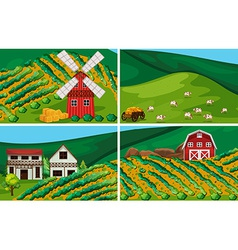 Farmland vector image